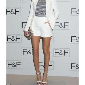 1aa4fcb9 Zara Shorts - Zara Off White Tailor Shorts Size Medium NWOT
